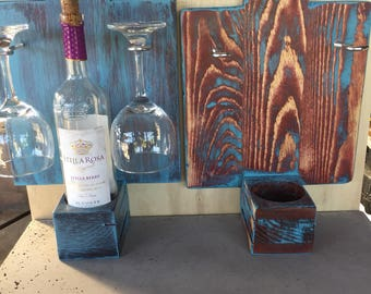 Wine glass and bottle display