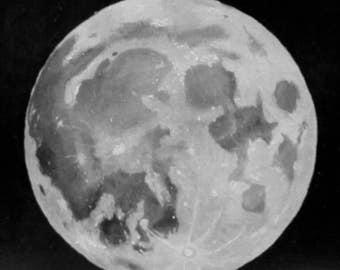 """Full moon print - 8x8"""""""