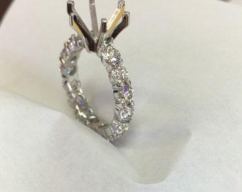 2.27ct -Eternity diamond engagement ring
