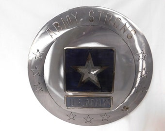 Army Strong coin wall hang by Steel Crazy Virginia