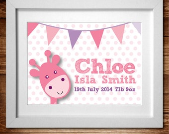 Baby Buntin Personalised Print* A4 (Also available as A3)