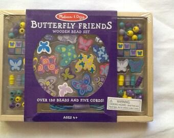 Butterfly Friends Wooden Bead Set