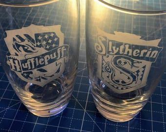 Harry Potter House Tumbler Glasses (4 glasses)