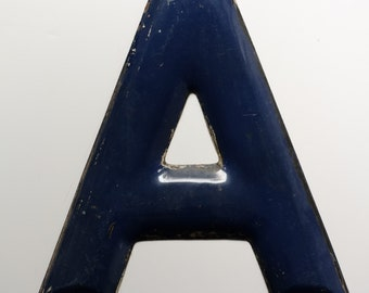 "Large Vintage Metal Letter Sign Uppercase ""A"""