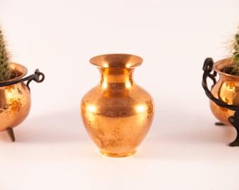 Vintage copper vase / swedish copper vase / copper mini vase / small copper vase / copper flower vase / copper vessel / copper home decor