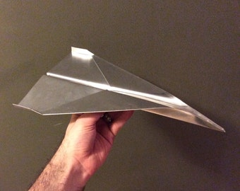 Aluminum Metal Paper Airplane