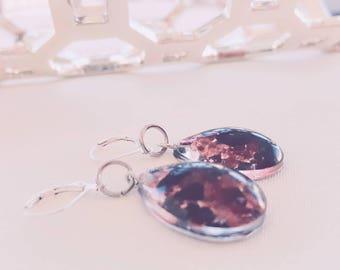 Garnet and Black Tourmaline Earrings