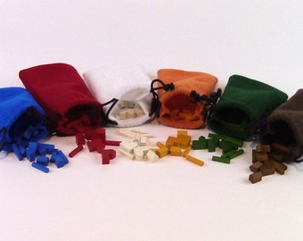 """Settlers of Catan Game Piece Pouches (6ct) (4""""x6"""") Expansion, Handmade"""