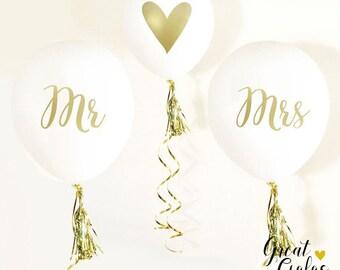 Mr. & Mrs. Balloons   Wedding Photo Props   Wedding Balloon   Engagement Party   Bridal Shower Balloons   Wedding Balloons