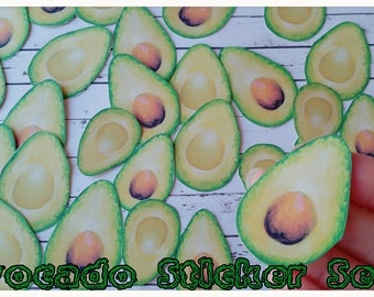 SALE 50xAvocado stickers,Planner Stickers,Veggie Stickers,Kawaii Stickers,Cute Stickers,Tumblr stickers/laptop sticker/fun stickers,Veggie