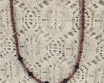Swarovski Grape Crystal Bead Necklace