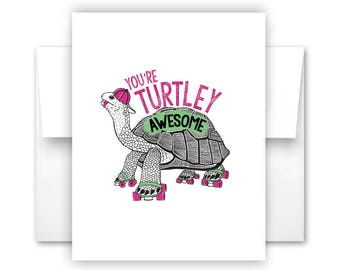 Turtley Awesome Notecard