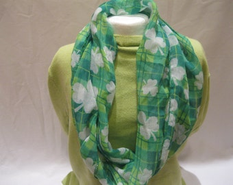 Green Shamrock Scarf. Perfect for St. Patrick's Day