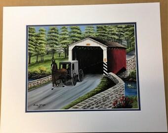 The Belmont Bridge Oil Painting Print
