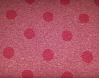 Cotton Jersey print polka dots pink