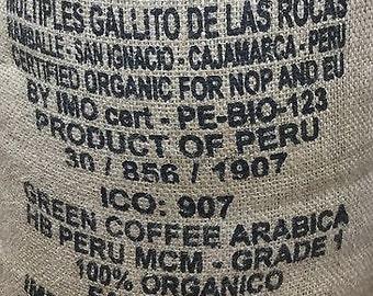 Green coffee beans Arabica fair trade organic Peruvian 1KG, RAW