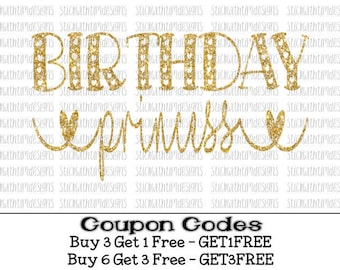 Birthday Princess Svg Birthday Svg Birthday girl svg Princess files PNG File svg files for Silhouette Cameo svg files for Cricut SVG Designs