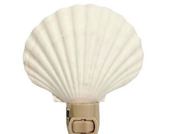 Irish Deep Natural Seashell Night Light (gift boxed) Shell Nightlight