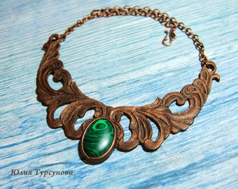 "Leather necklace ""Forest Fairy"""