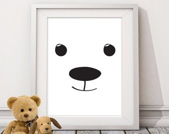 Bear Wall Print - Home Decor, Wall Art, Children's Print, Nursery Print, Animal Print