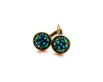 Earrings or studs Gefunkel blue bronze