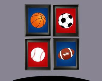 Boys Sports Ball Nursery Wall Art
