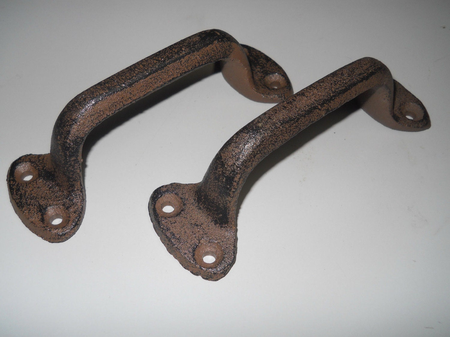 Rustic Barn Door Pulls 2 Cast Iron Antique Style Rustic Barn Handle Gate Pull Shed