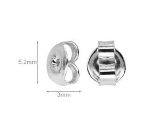 2 pcs Sterling Silver Ear nuts earrings