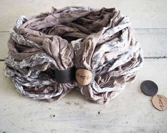 Cotì, scarf with magnet, scarf necklace, worn in four different ways, gift idea, Italian cotton, made in italy, handmade