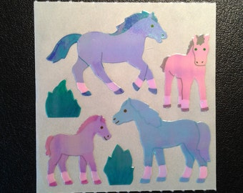 Sandylion Stickers Pearl Scrapbooking Vintage Pearly Horse, Horses   (1 mod)