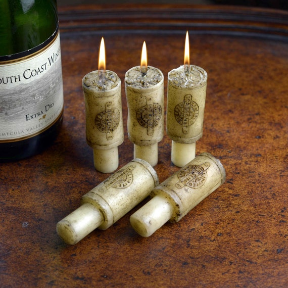 Wine Bottle Cork Candle Set, 6 Piece Merlot Scented, Wine Gifts, Perfect Christmas Gift, Weddings, Anniversary, Engagement, Special Occasion