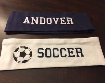 Monogram Stretchy Headband, Soccer Headband, Team Headband, Yoga Headband, Sports Headband, Fitness Headband