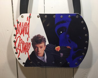David Bowie vinyl record purse