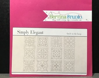 Bertina Studio Simply Elegant Quilt-in-the-Hoop Design CD