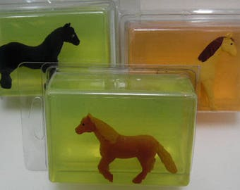 Kids Critter Soap - horse - butterfly - pig - glycerin - toy in soap - kids gift - childs gift - birthday - christmas - stocking stuffer