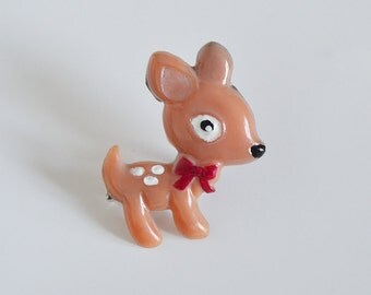 BAMBI Brooch bambi • Brooch made of polymer clay then painted by hand