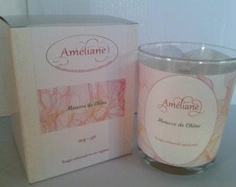 "Scented ""Mousse de Chêne"" / Perfumed candle Oak Moss"