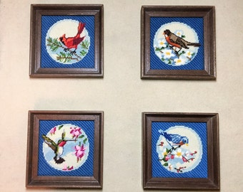 Cross Stitched Birds