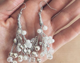 Earrings WINTER'S TALE, Earrings, Wedding earrings, Bridal, Bridal Accessories, Accessories, Crystals, Beads, Jewelry, Gypsy, Design
