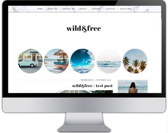 Premade responsive blogger template - WILD & FREE