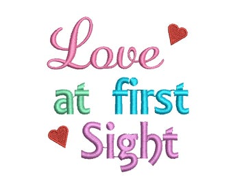 Love at First Sight Embroidery Design, Newborn Embroidery Design,  New Baby Embroidery Design, Girl embroidery desing, baby embroidery
