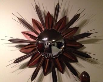Retro rustic starburst convex mirror
