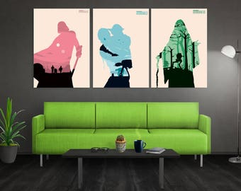 Star Wars Trilogy Poster Set Star Wars Minimalist Poster Star Wars Art Star Wars Minimalist Print Star Wars Wall Art Minimalist Art