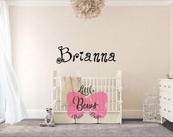 Baby Name Decals Etsy - Custom vinyl wall decals nursery