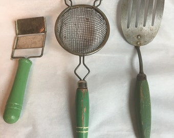 Vintage small kitchen utensil set