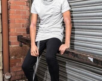 Junq Couture Ammit Grey Longline T-shirt