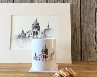 London Gift, London Mug, Architecture Gift, Architecture Mug, Art Mug, St Paul's Cathedral Mug, London Art, London Design, Designer Mug