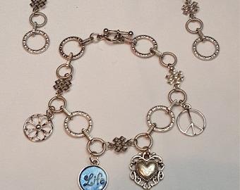Charm Bracelet (earrings not included)