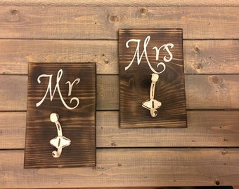 Mr and Mrs Towel Holders