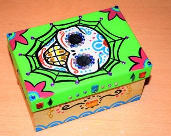 Mexican sugar skull box